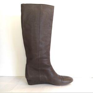 Loeffler Randall 'Matilde' grey leather boots, 7.5